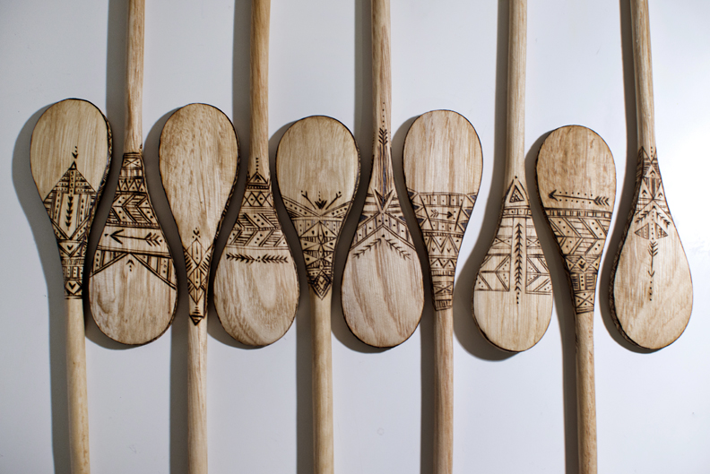Becca Cahan's Wood Burned Spoons