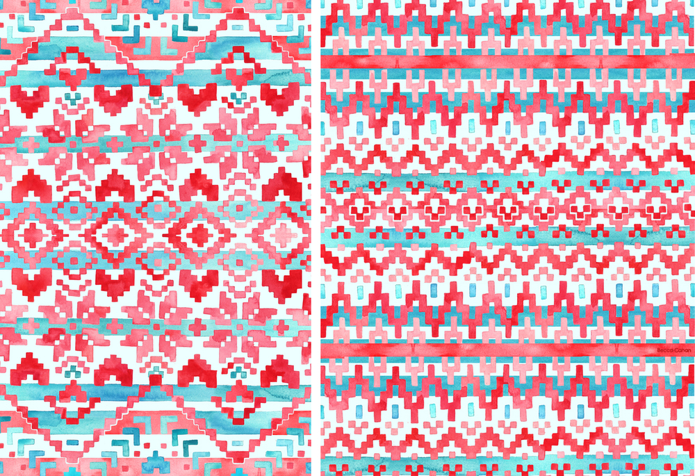 """Snug"" and ""Comfy"" patterns by becca cahan"