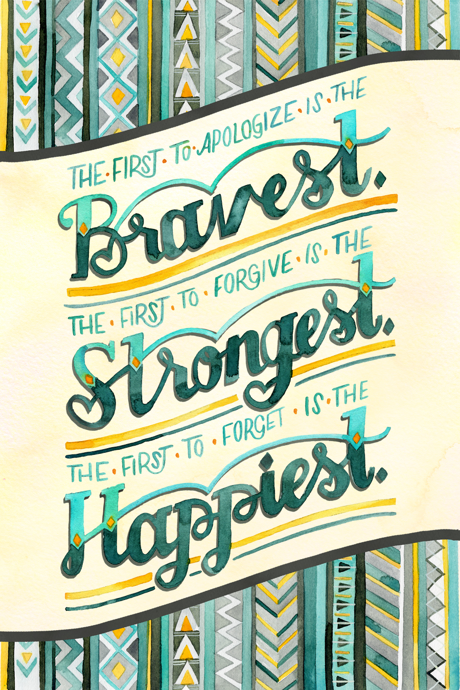 """Bravest, Strongest, Happiest"" by becca cahan"