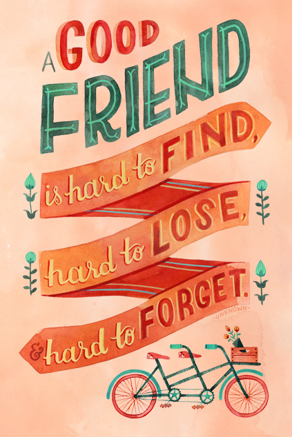 """A Good Friend"" by becca cahan"