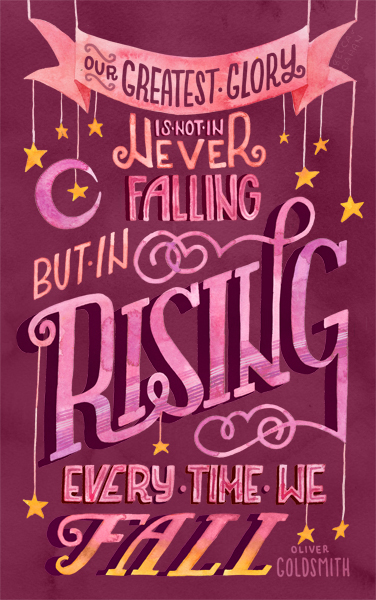 """Rise Every Time"" by becca cahan"