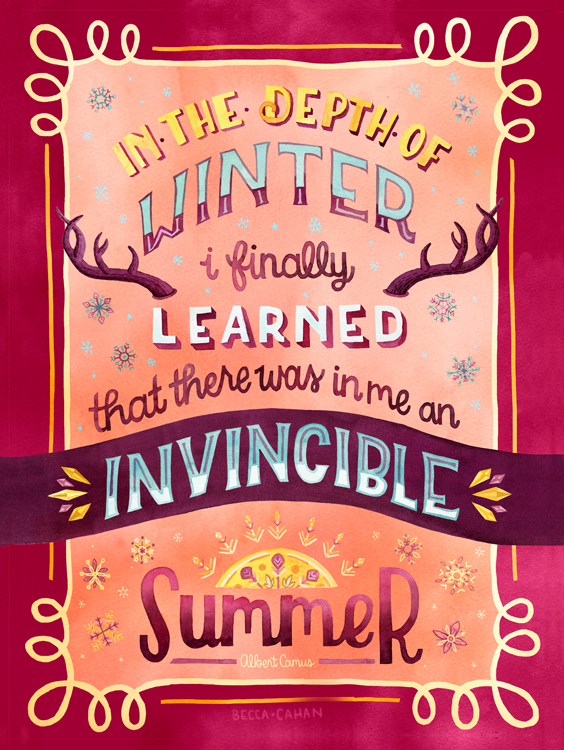 """Invincible Summer"" by becca cahan"