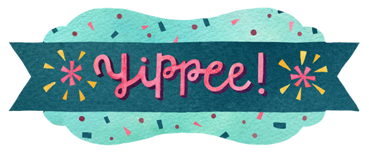 """Hip Hip Hooray!"" corresponding sticker by becca cahan"