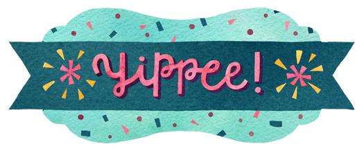 """Hip Hip Hooray!"" corresponding sticker by becca cahan"