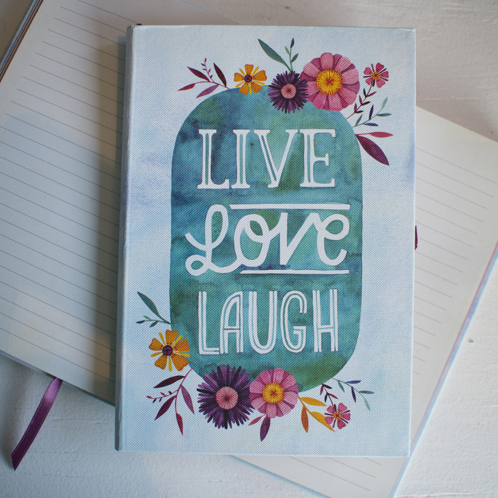 "Studio Oh! ""Live Love Laugh"" journal by Becca Cahan"