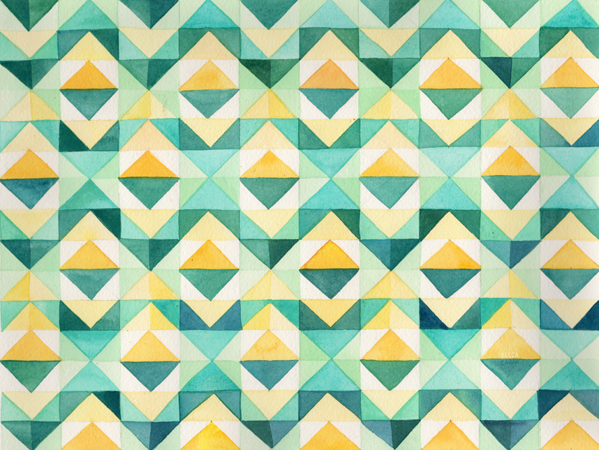 """Quilted Diamonds"" by becca cahan"