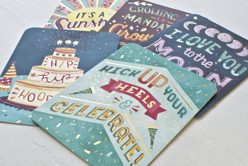 Becca Cahan for Studio Oh! // Deluxe Greeting Cards