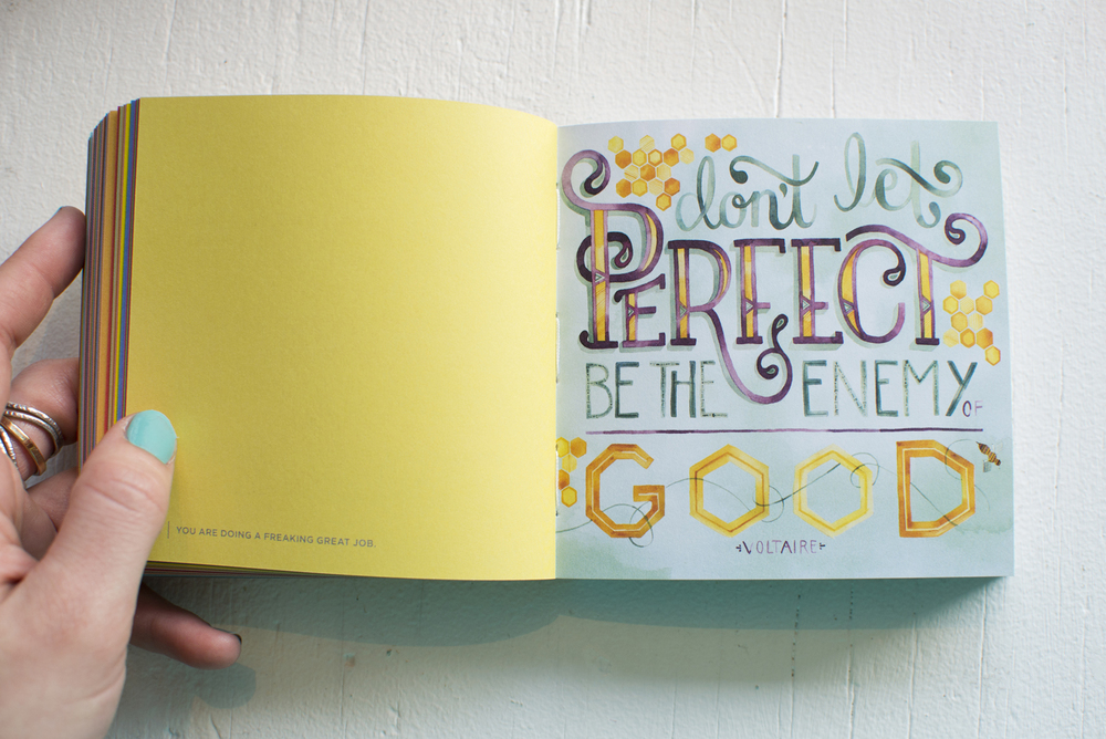 "Photo + Illustration by Becca Cahan // Workman Publishing ""You are Doing a Freaking Great Job"" book"