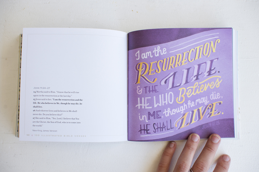 """100 Illustrated Bible Verses"" Workman Publishing Book // Illustrations by Becca Cahan"