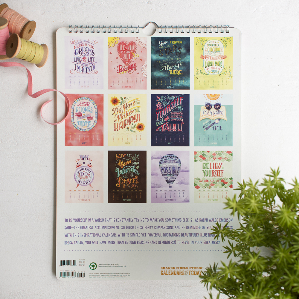 Studio Oh! 2016 Illustrated Calendar by Becca Cahan
