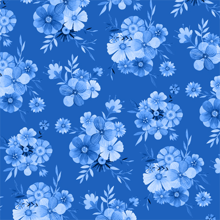 Floral Indigo pattern by becca cahan