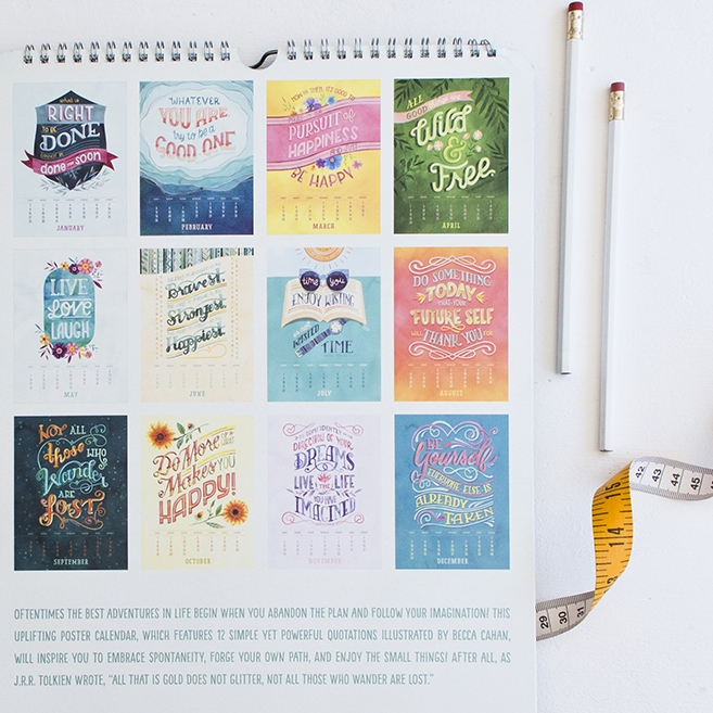 Becca Cahan 2017 Poster Calendar