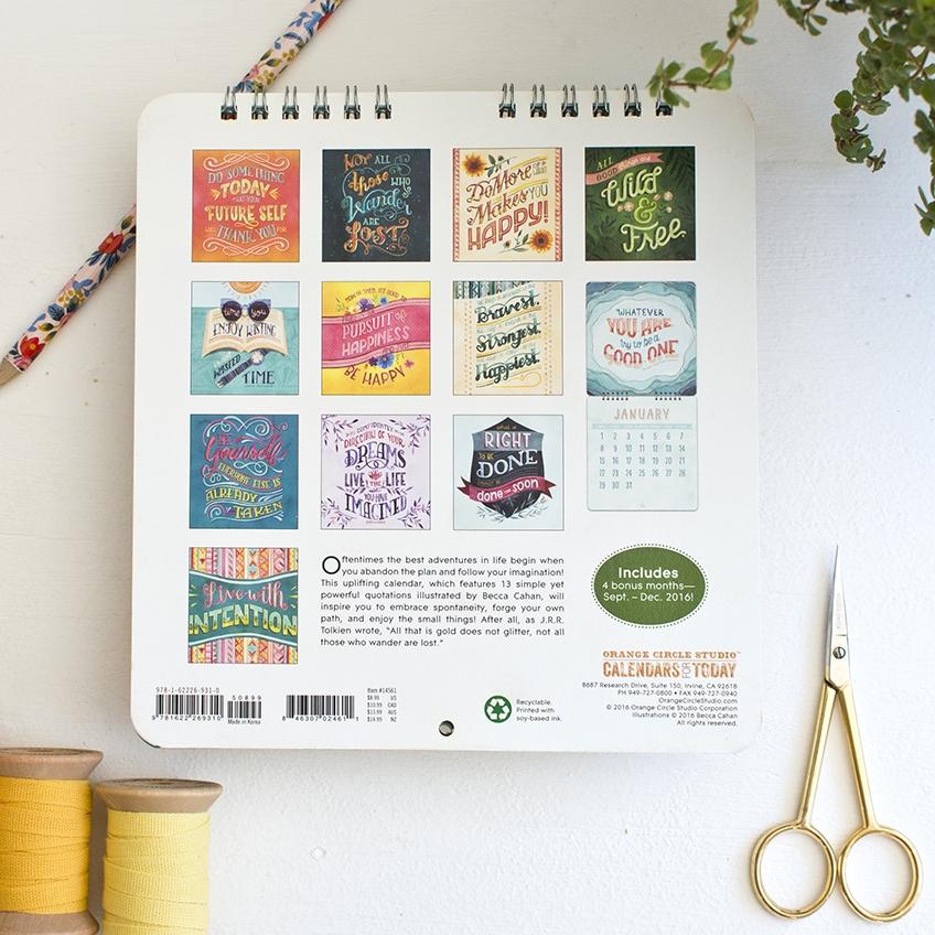 Becca Cahan 2017 Mini Calendar