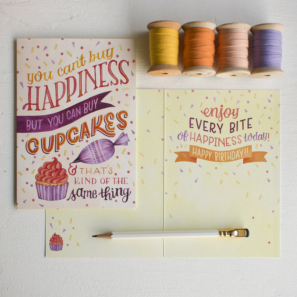 Becca Cahan Illustrated Greeting Card for Sellers Publishing