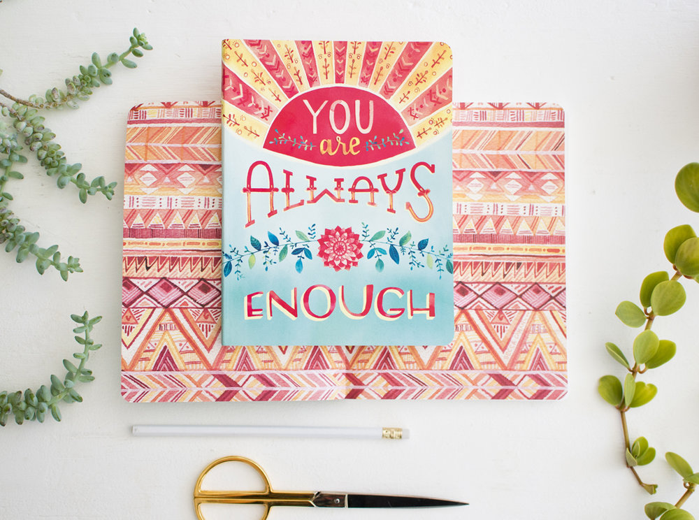 """You Are Always Enough"" Studio Oh! Journal by Becca Cahan for TJMaxx"