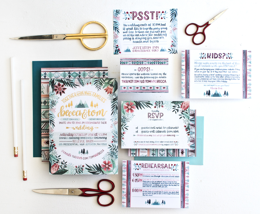 Becca Cahan Personal Wedding Invitation