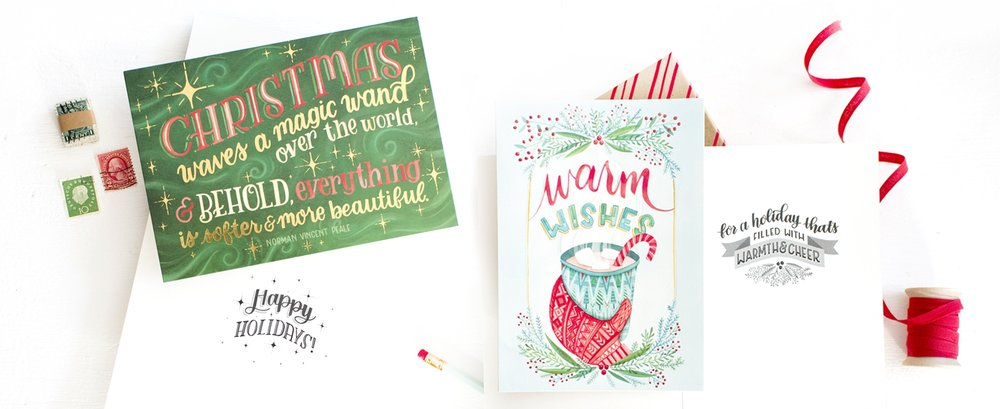 Becca Cahan Boxed Holiday Cards for RSVP/Sellers Publishing