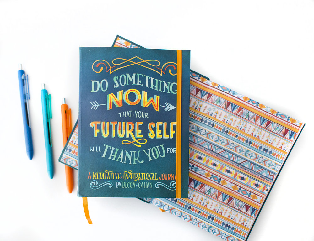 """Do Something Now"" Sellers Publishing Journal Illustrated by Becca Cahan as seen on Beccacahan.com"