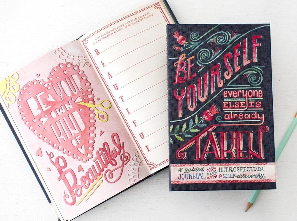 """Be Yourself"" Studio Oh! Guided Journal by Becca Cahan"