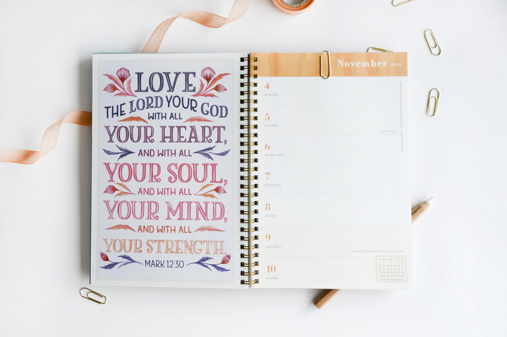 Becca Cahan Illustration X Workman Publishing Illustrated Bible Verse Engagement Calendar Planner