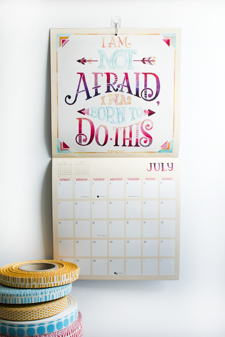"2019 Sellers Publishing ""She Persisted"" Calendar Illustrated by Becca Cahan"