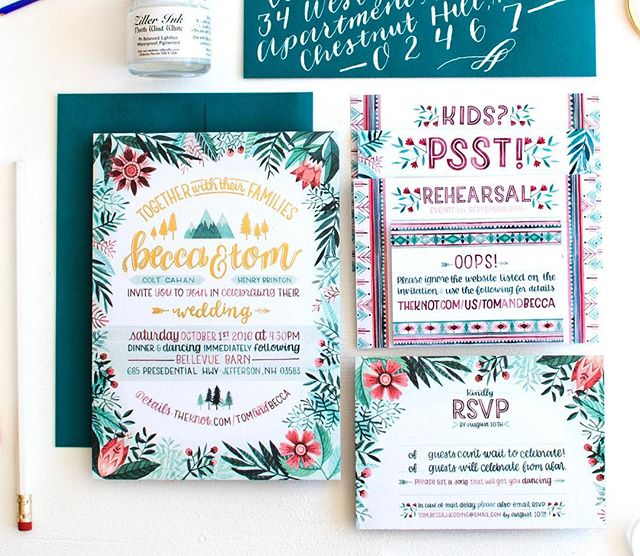 Happy two years of marriage to the best guy I've ever known ❤️ so much fun to look back at all the craziness that was designing my own invite and all the diy elements of our wedding. So much work, such a blast. #BeccaCahan #TandBtakeBellevue  __ All photos except the first by my amazing friend & photographer @emilytebbetts, invite designed by me & printed by another one of my  talented friends @augustandosceola