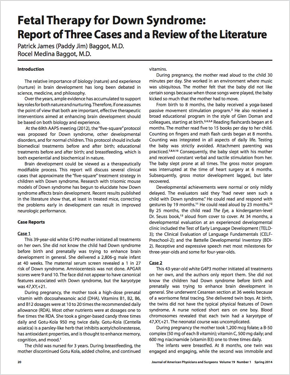 Issues Law Med. 2017 Spring;32(1):31-41. - Baggot PJ, Baggot RM.