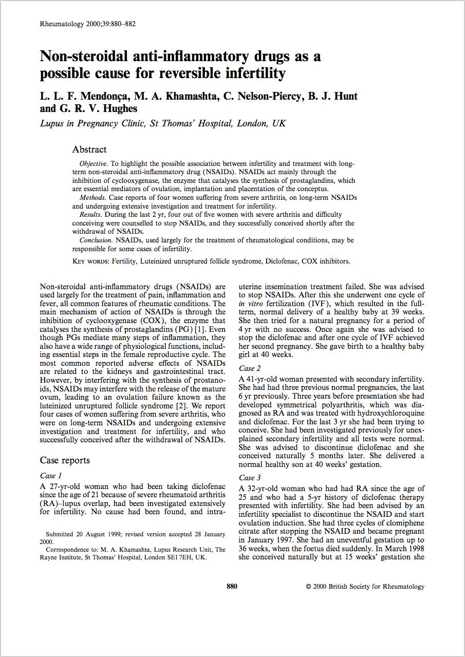 Rheumatology, Volume 39, Issue 8, 1 August 2000, Pages 880–882 - L. L. F. Mendonça M. A. Khamashta C. Nelson‐Piercy B. J. Hunt G. R. V. Hughes