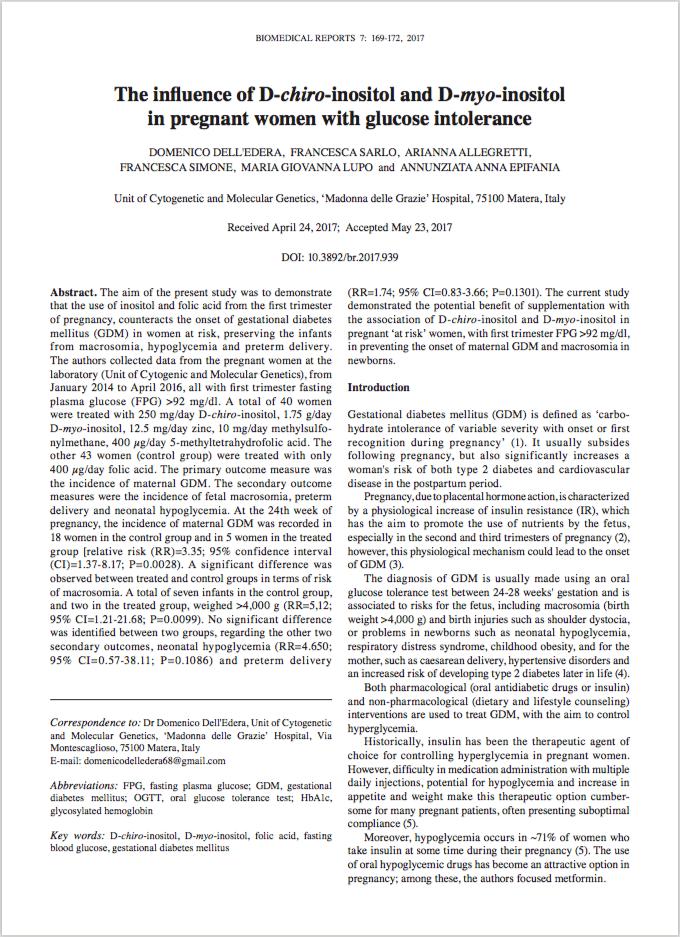 Biomed Rep. 2017 Aug;7(2):169-172. - Dell'Edera D, Sarlo F, Allegretti A, Simone F, Lupo MG, Epifania AA.
