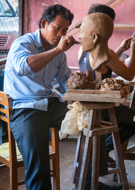 Student at the University of Fine Art, Phnom Penh