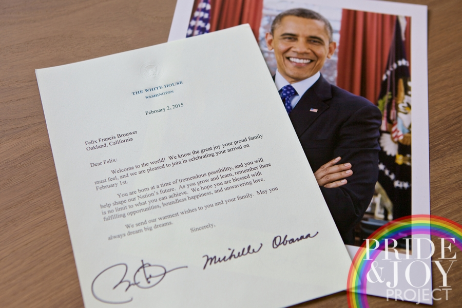 Letter to Felix from Barack & Michelle.