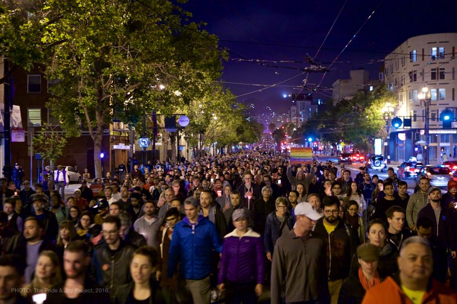 Marching down Market Street.© Kersh Branz, 2016.
