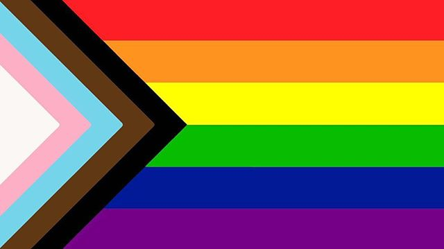 Checking out a new flag design that combines both the trans flag and the rainbow flag with black & brown added in, too! What do you think!? #transflag #rainbowflag #design #combined #🏳️‍🌈 #shareyourthoughts #sf