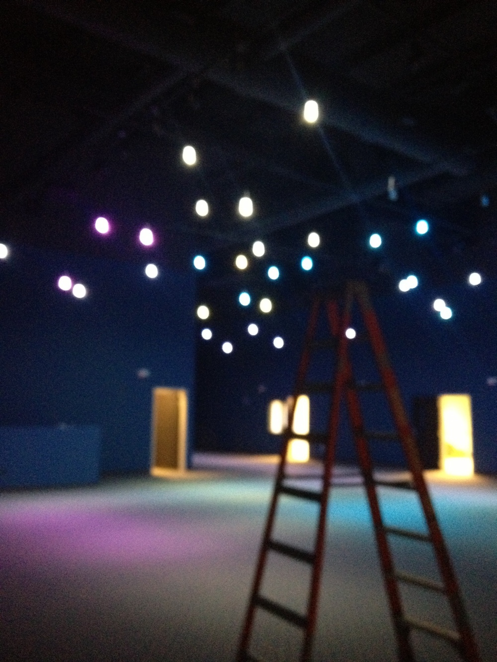 Ok-- I know this pic is blurry (camera not cooperating), but you've got to see the lights that they put in the elementary kids area. This place looks like the night sky. It is so cool!!