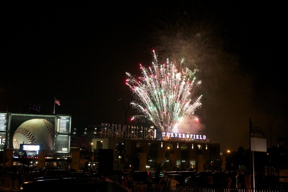 Fireworks after the game.