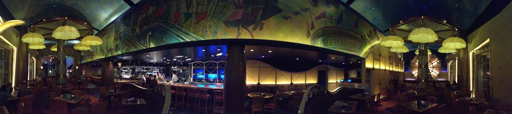 A panoramic of Flying Fish Cafe at  Disney's Boardwalk .