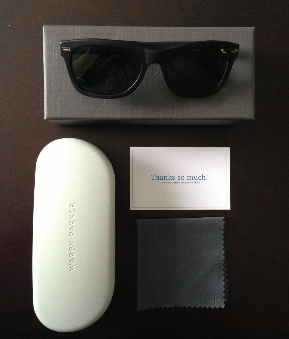 This is the complete kit you receive from Warby Parker.