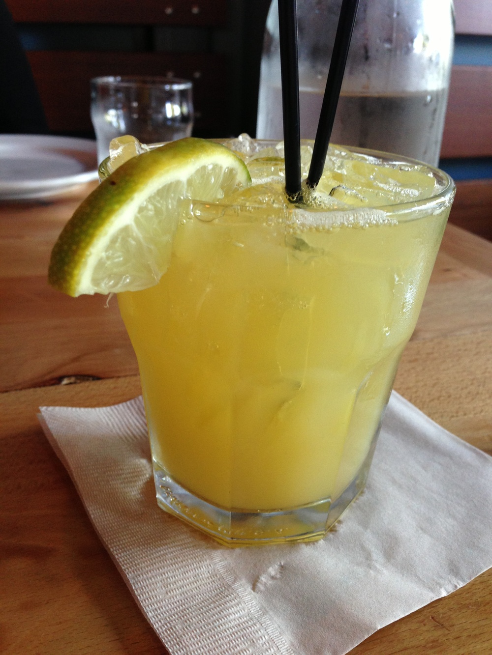 The Blue Agave margarita is sweet and sour.