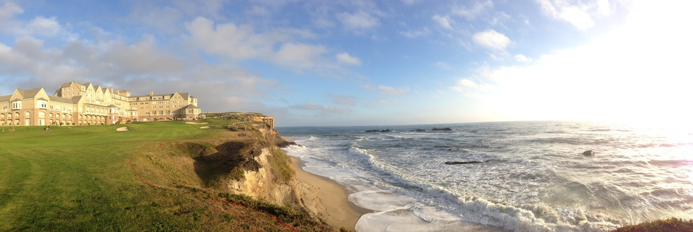 A panoramic view from the Ritz Carlton, Half Moon Bay on a beautiful Friday evening.
