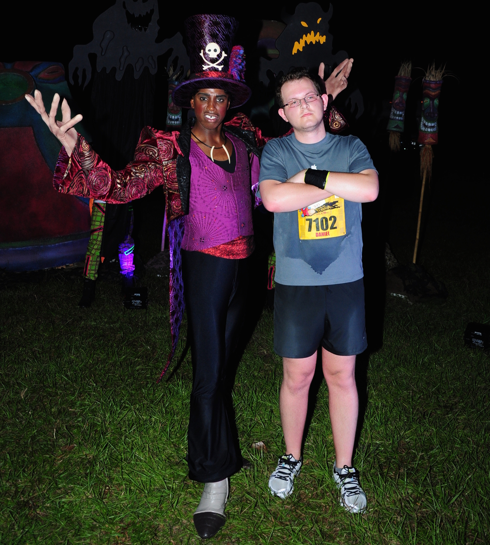 I don't regret this runDisney Tower of Terror 10-Miler photo one bit – sweat included!