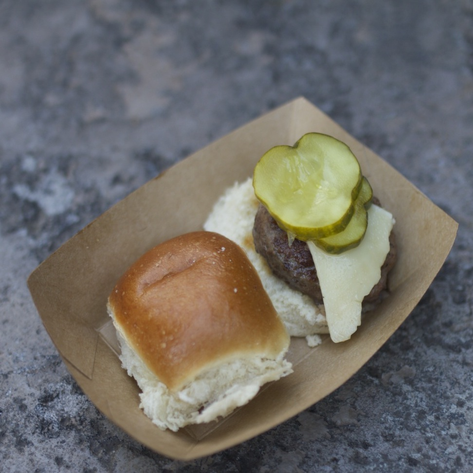 The Florida grass-fed beef slider was another hit last year. The cheese and pickle added a salty bite to the beef.