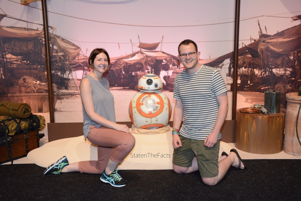 Meeting BB-8 at the runDisney Expo.