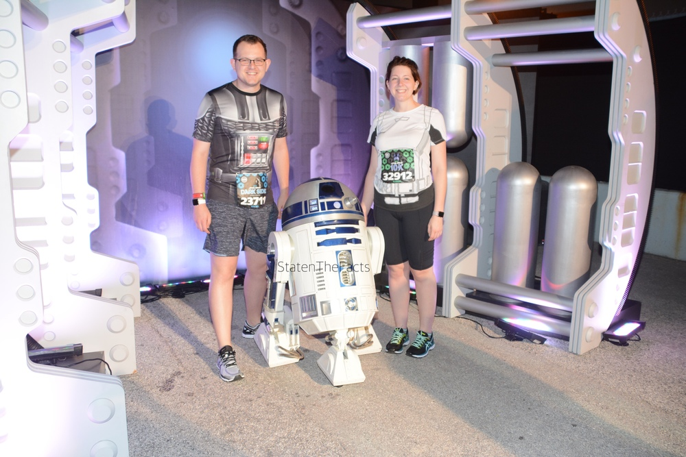 R2D2 was the first character on the course for the 10K – and the only one we stopped for.