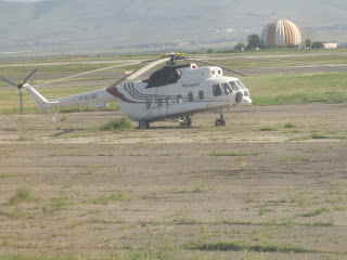 A Mil Mi-8 helicopter for sale at Tbilisi airport!