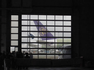 View from inside the Airbus factory