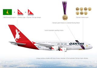 Qantas Olympic livery for London 2012. Image:  Gabriel Tam  (under Creative Commons License)