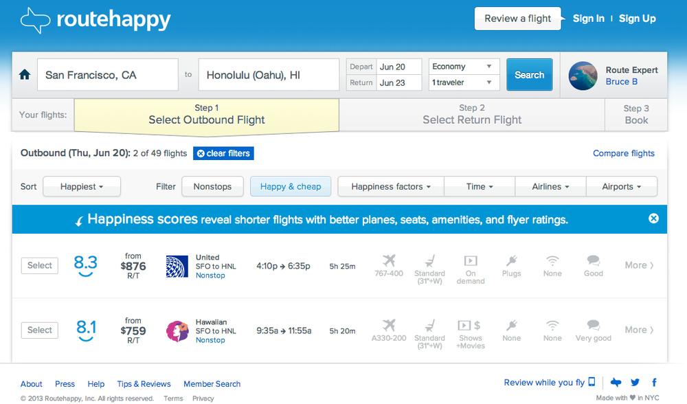 Routehappy Happy & Cheap Screenshot.SFO to Honolulu.png