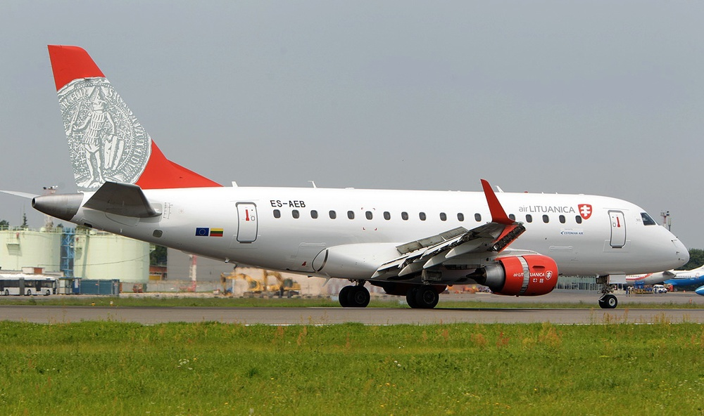 Air Lituanica has started operations with an Embraer E170 leased from Estonian Air. Picture: Air Lituanica