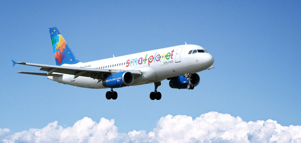 "One of Small Planet Airlines colourful Airbuses. Picture: ""Not Perfect"""