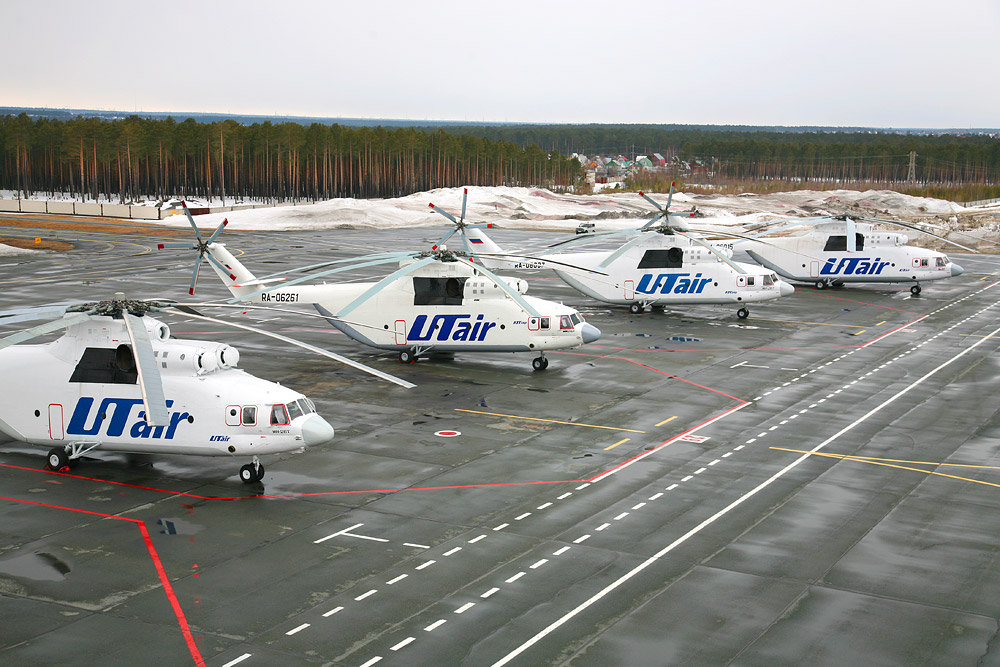 UTair helicopters link communities across Siberia